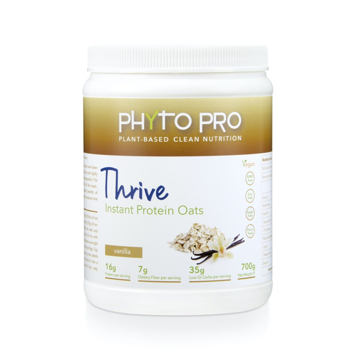 PP3248 Phyto Pro Thrive Instant Protein Oats Vanilla 700g