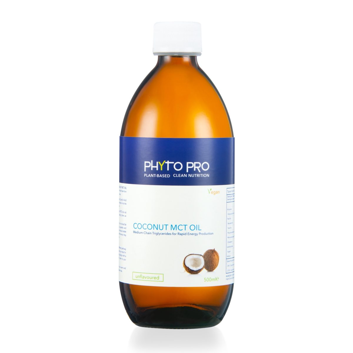 PP6333 Phyto Pro Coconut MCT OIl Unflavoured 500ml